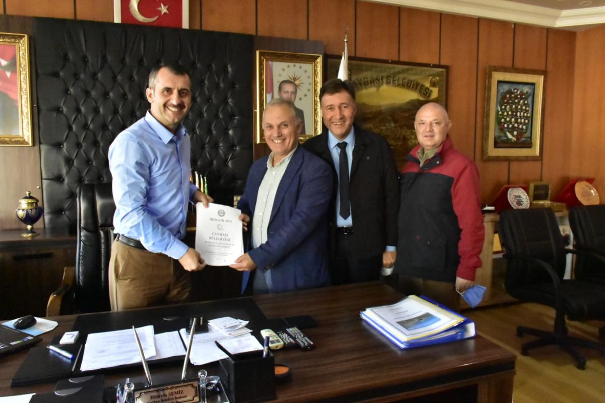 Ordu-Çaybaşı Belediyesi ile SDS İmzalandı