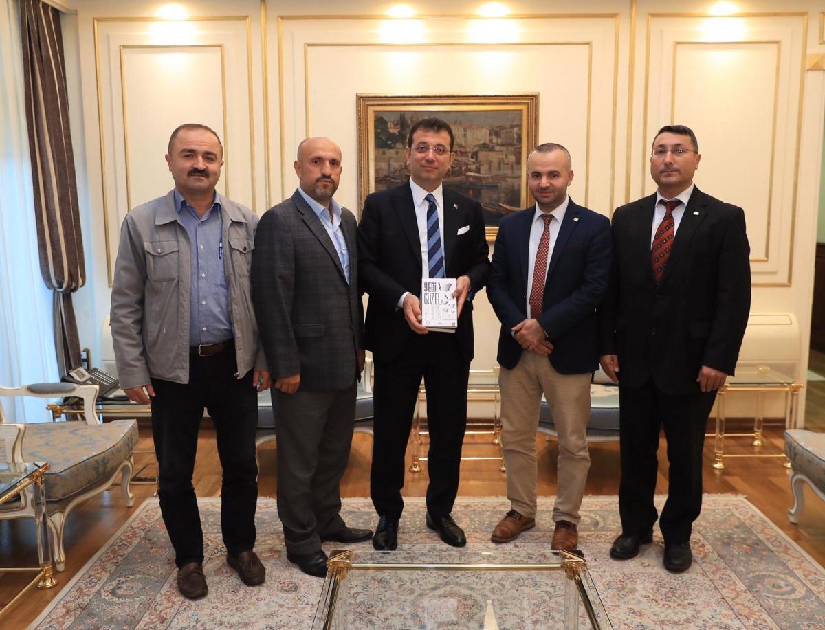 İstanbul 1 No'lu Şube Yönetimimiz, Büyükşehir Belediye Başkanı Sn. Ekrem İmamoğlu'nu Makamında Ziyaret Etti