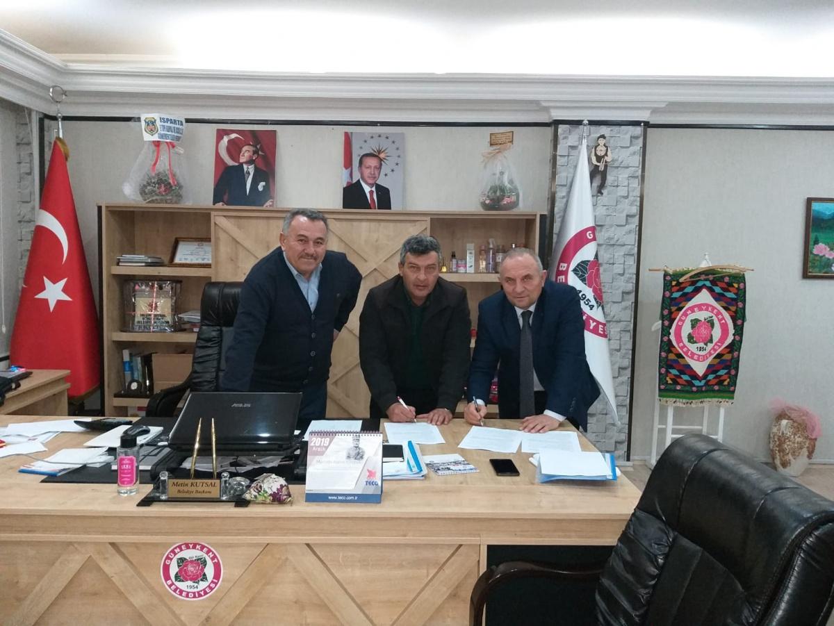 Isparta-Güneykent Belediyesi ile SDS İmzaladık