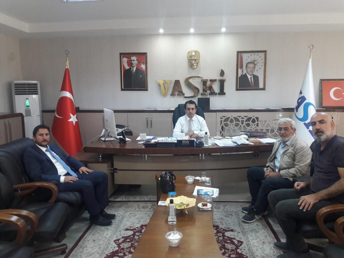 Van Şube Başkanımız Altın'dan VASKİ Genel Müdürü Kaplan'a 'Hayırlı Olsun' Ziyareti