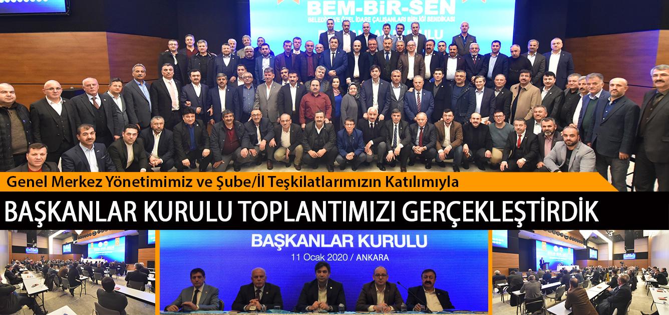 Genel Merkez Yönetimimiz ve Şube/İl Teşkilatlarımızın Katılımıyla Başkanlar Kurulu Toplantımızı Gerçekleştirdik