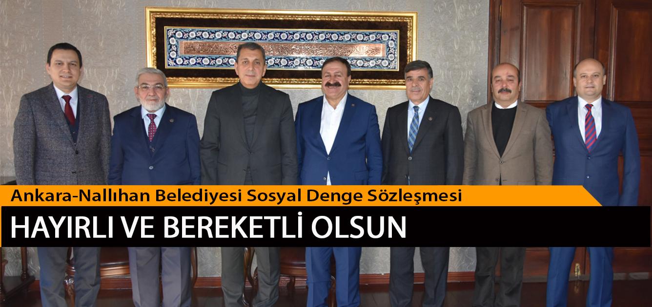 Ankara-Nallıhan Belediyesi Sosyal Denge Sözleşmesi Hayırlı ve Bereketli Olsun