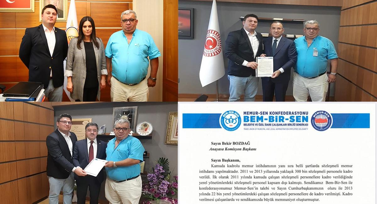 İstanbul İtfaiye Şube Başkan Yardımcılarımız Mustafa Gürel ve Salih Dilek, Bekir Bozdağ ve Yusuf Başer, Jülide Sarıeroğlu'nu makamlarında ziyaret etti