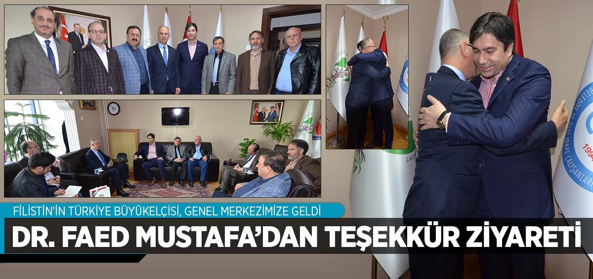 Filistin'in Türkiye Büyükelçisi Genel Merkezimize Geldi
