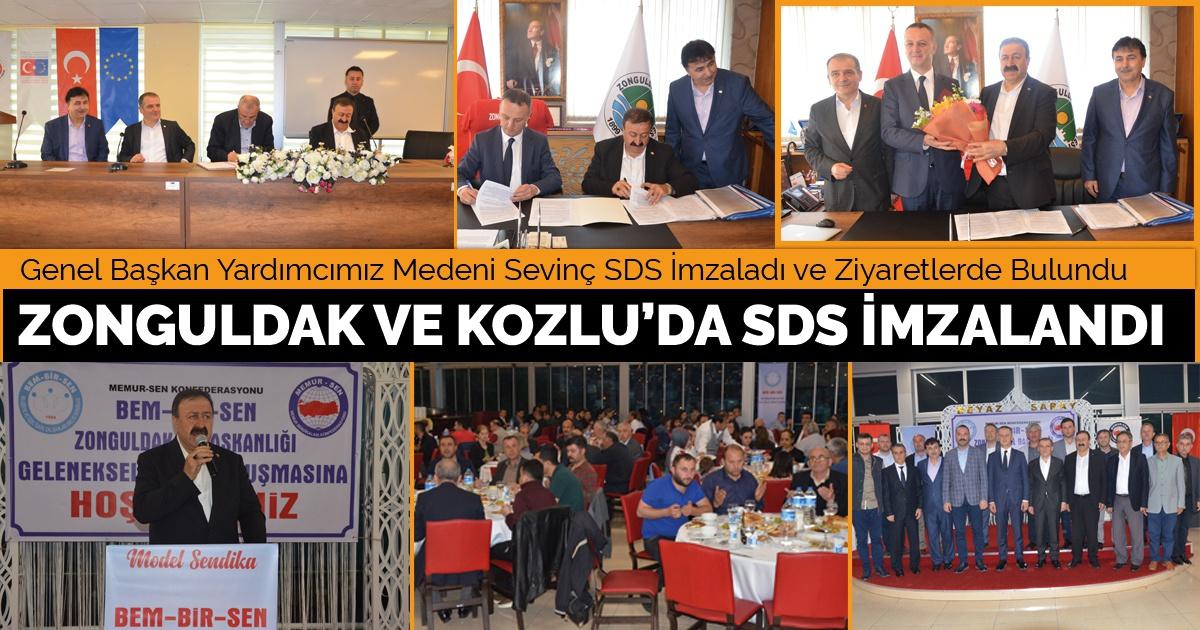 Zonguldak ve Kozlu'da SDS İmzalandı