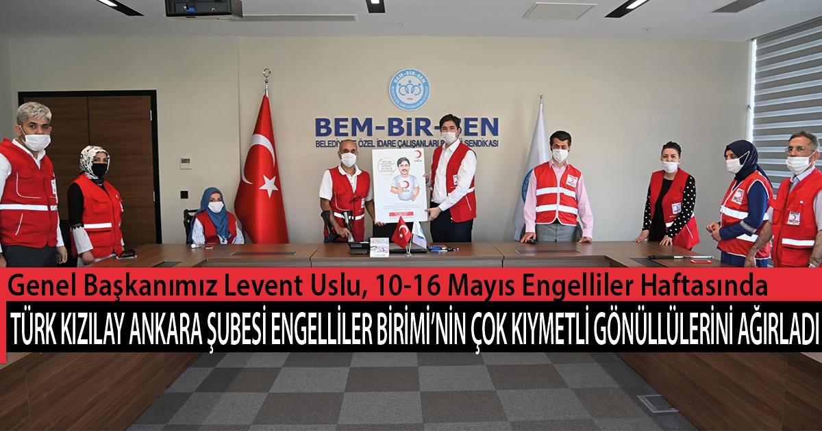 Genel Başkanımız Levent Uslu, 10-16 Mayıs Engelliler Haftasında Türk Kızılay Ankara Şubesi Engelliler Birimi'nin Çok Kıymetli Gönüllülerini Ağırladı