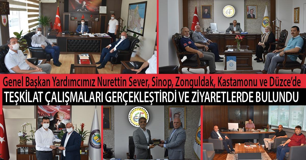 Genel Başkan Yardımcımız Nurettin Sever, Sinop, Zonguldak, Kastamonu ve Düzce'de Teşkilat Çalışmaları Gerçekleştirdi ve Ziyaretlerde Bulundu