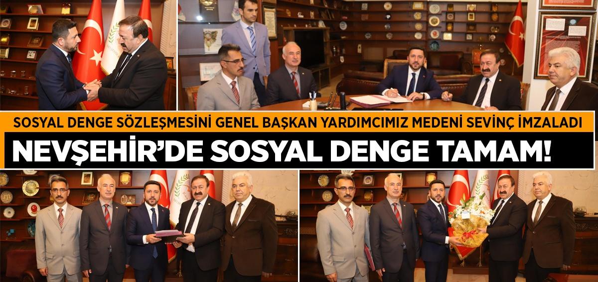 Nevşehir Belediyesi ile SDS İmzaladık