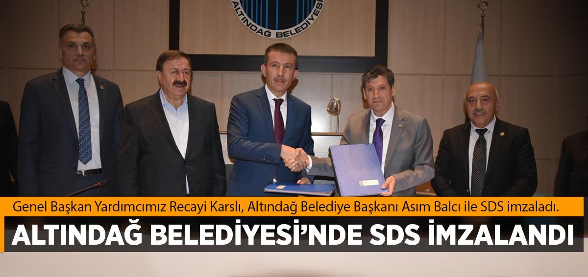 """Altındağ Belediyesi'nde """"Sosyal Denge Sözleşmesi"""" imzalandı"""
