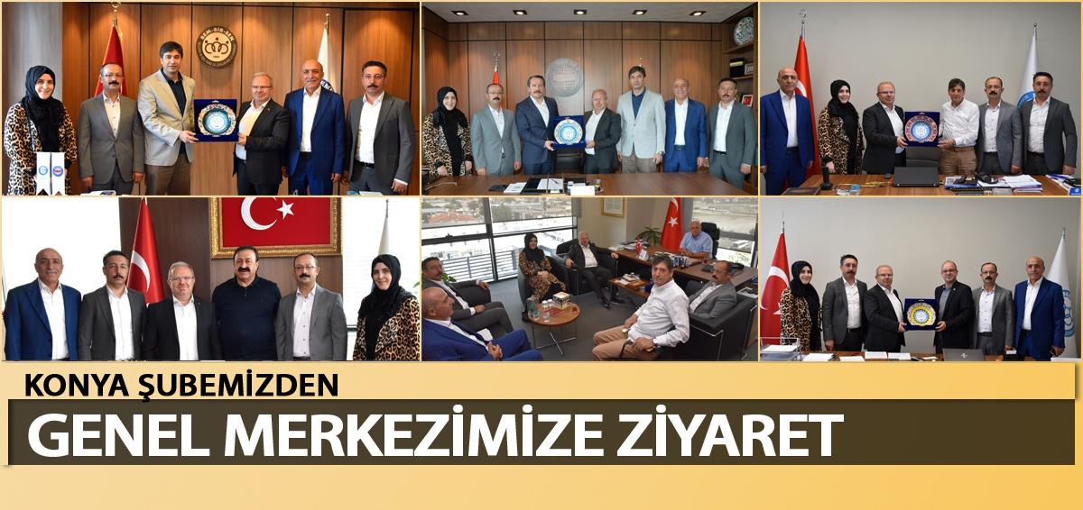 Konya Şubemizde Bayrak Değişimi, Yeni Yönetimden Genel Merkezimize Ziyaret