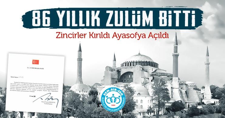 Gözümüz Aydın: 86 Yıllık Zulüm Bitti, Ayasofya'nın Camii Olduğu Hukuken Tescil ve Teyid Edildi.