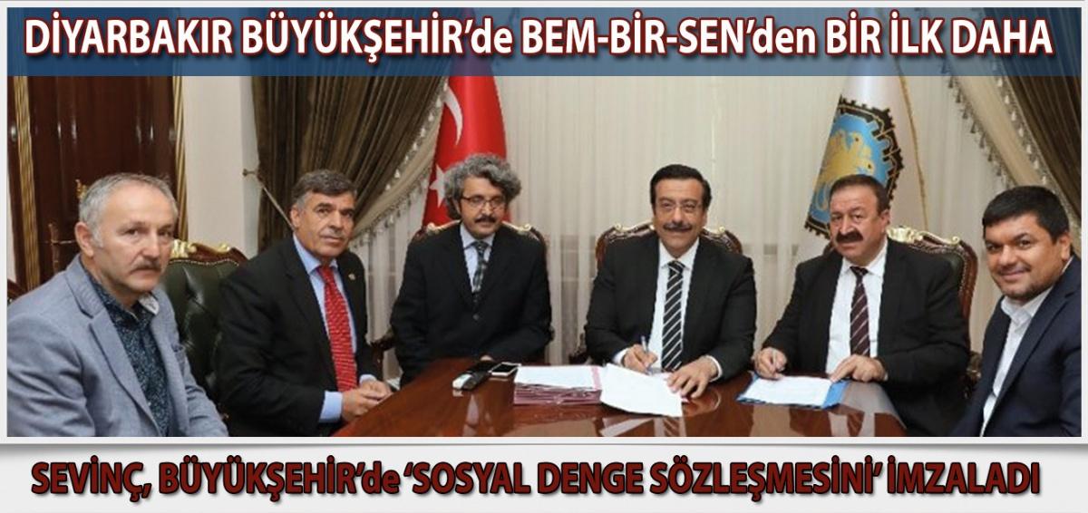 Diyarbakır Büyükşehir Belediyesinde 'Sosyal Denge Sözleşmesi' imzalandı