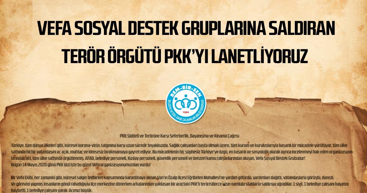 PKK Şiddeti ve Terörüne Karşı Seferberlik, Dayanışma ve Kınama Çağrısı
