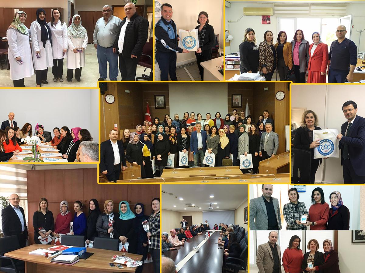 Dünya Kadınlar Gününde Teşkilatlarımızdan Kadın Üyelerimize Ziyaretler
