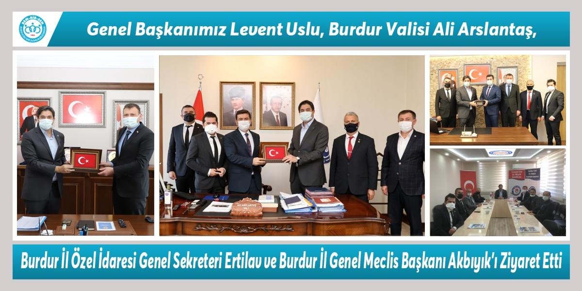 Genel Başkanımız Levent Uslu, Burdur Valisi Ali Arslantaş, Burdur İl Özel İdaresi Genel Sekreteri Ertilav ve Burdur İl Genel Meclis Başkanı Akbıyık'ı Ziyaret Etti. Teşkilatlarımızla Bir Araya Geldi.