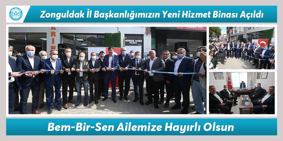 Zonguldak İl Başkanlığımızın Yeni Hizmet Binası Açıldı. Bem-Bir-Sen Ailemize Hayırlı Olsun