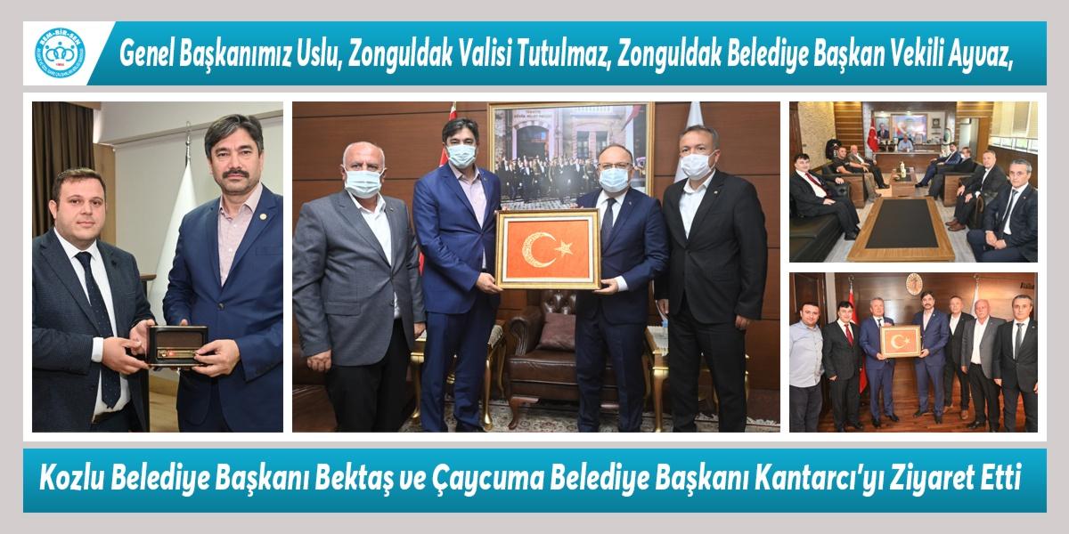 Genel Başkanımız Levent Uslu, Zonguldak Valisi Mustafa Tutulmaz, Zonguldak Belediye Başkan Vekili Samet Ayvaz, Kozlu Belediye Başkanı Ali Bektaş ve Çaycuma Belediye Başkanı Bülent Kantarcı'yı Ziyaret Etti
