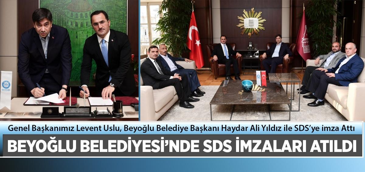 Beyoğlu Belediyesi ile SDS İmzaladık