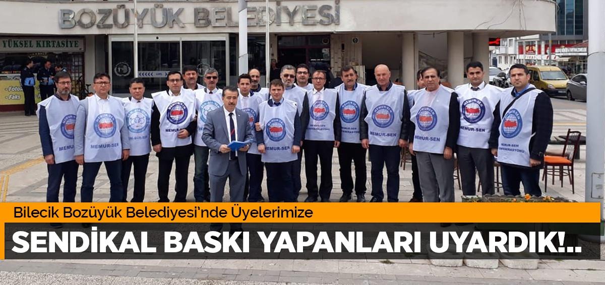 Bilecik Bozüyük BELEDİYESİNDE SENDİKAL BASKI VE TEHDİTLER KARŞISINDA GERİ ADIM ATMAYACAĞIZ!..