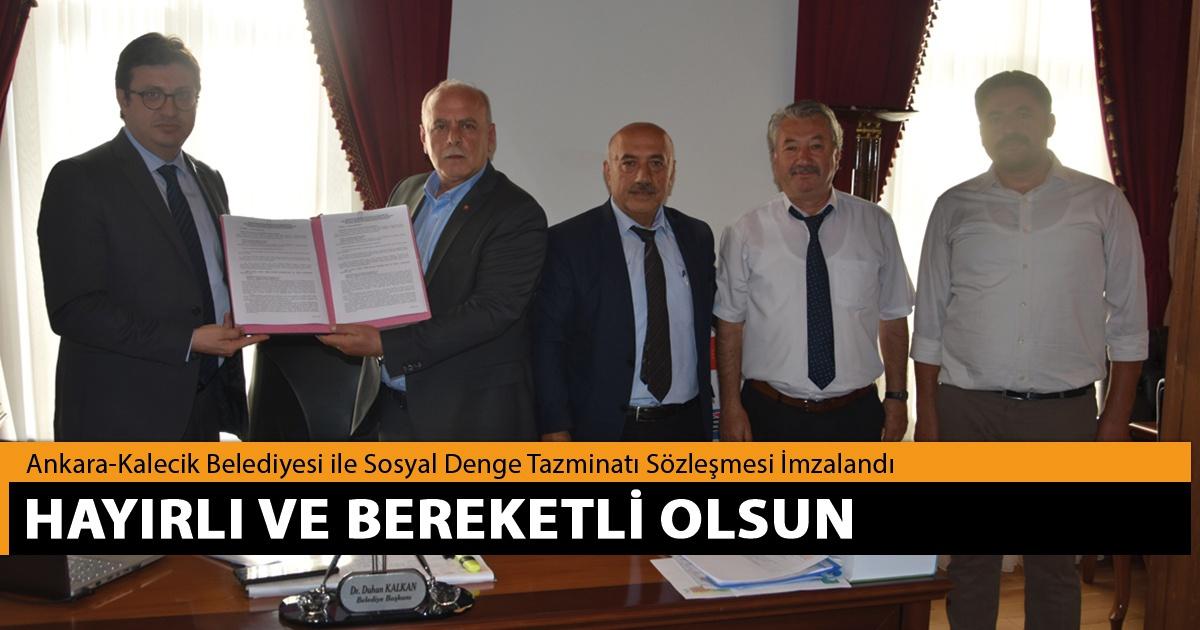 Ankara-Kalecik Belediyesi ile SDS İmzalandı