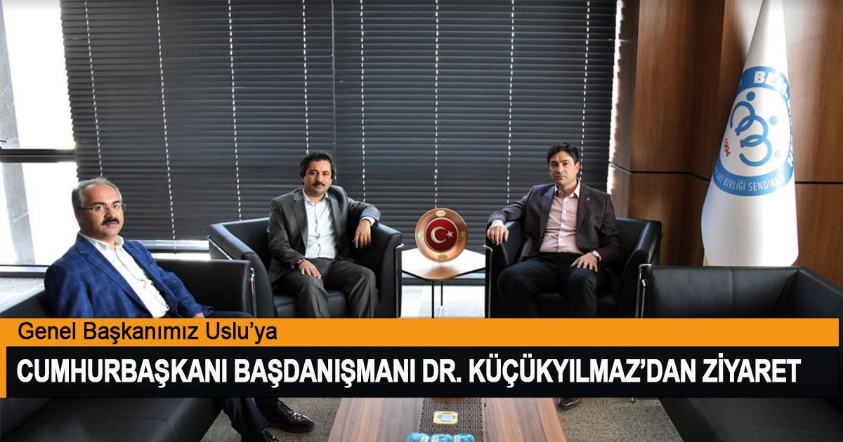 Cumhurbaşkanı Başdanışmanı Dr. M. Mücahit Küçükyılmaz, Genel Başkanımız Uslu'yu Ziyaret Etti