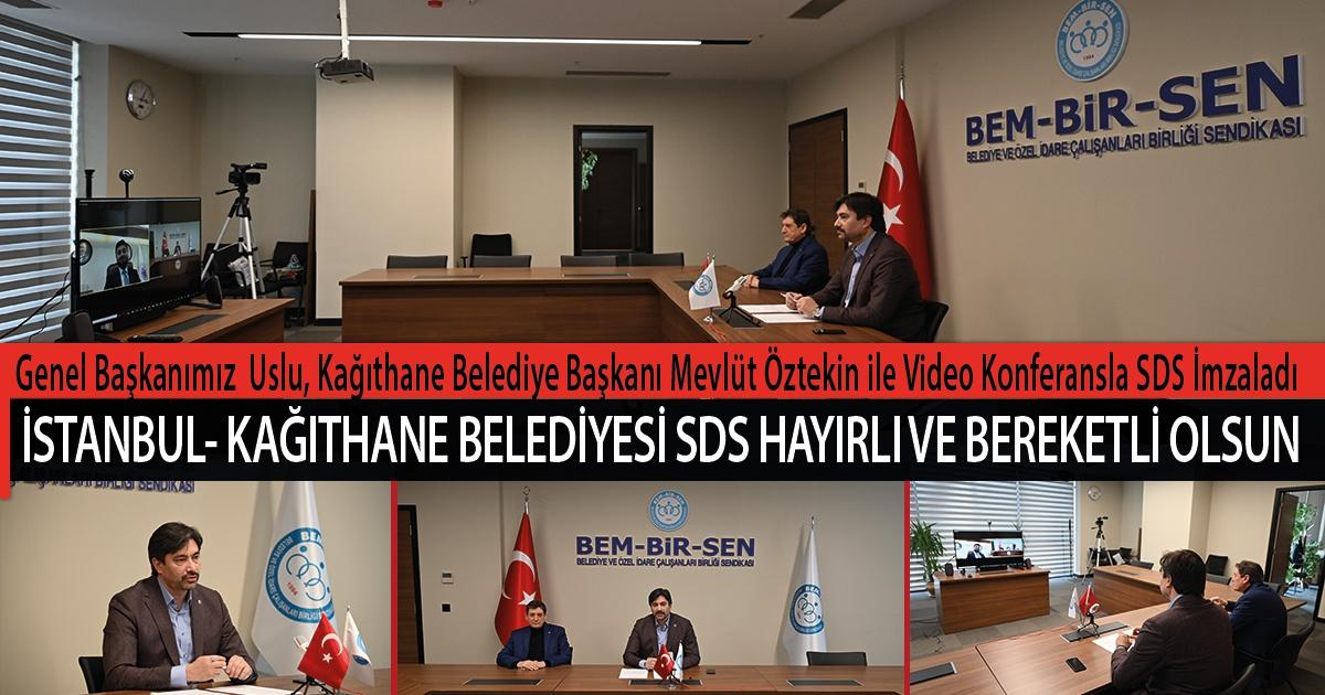 Genel Başkanımız Levent Uslu, İstanbul- Kağıthane Belediye Başkanı Mevlüt Öztekin ile Video Konferansla Sosyal Denge Sözleşmesi İmzaladı. Hayırlı ve Bereketli Olsun