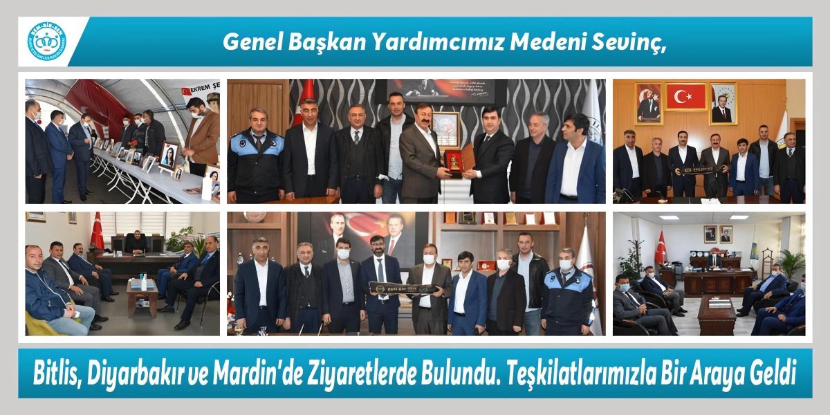 Genel Başkan Yardımcımız Medeni Sevinç, Bitlis, Diyarbakır ve Mardin'de Ziyaretlerde Bulundu. Teşkilatlarımızla Bir Araya Geldi.