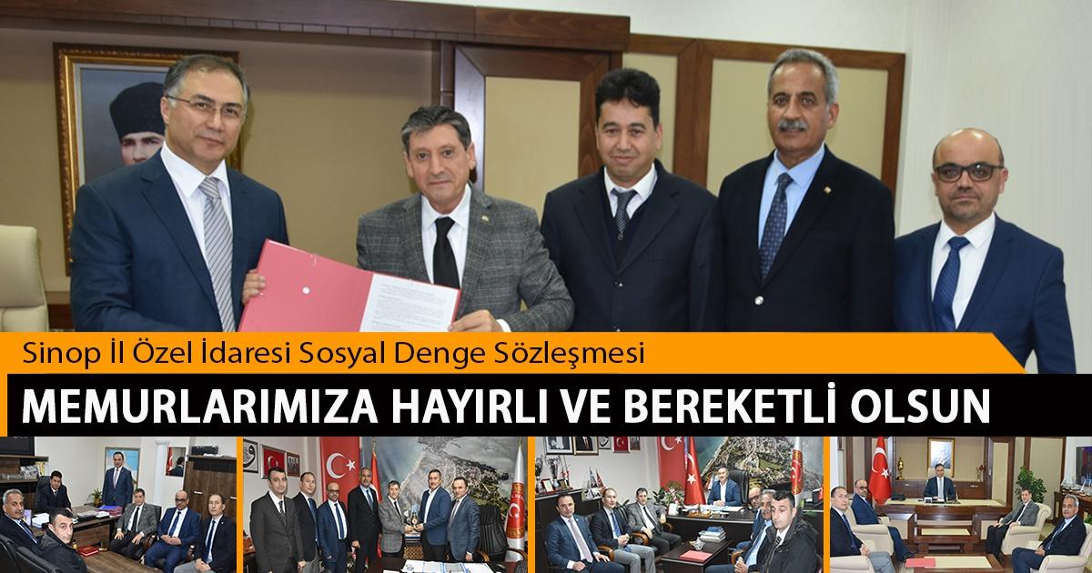 Sinop İl Özel İdaresi Sosyal Denge Sözleşmesi Memurlarımıza Hayırlı ve Bereketli Olsun