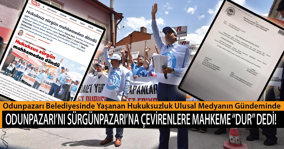 """Odunpazarı'nı Sürgünpazarı'na Çevirenlere Mahkeme """"Dur"""" Dedi!"""