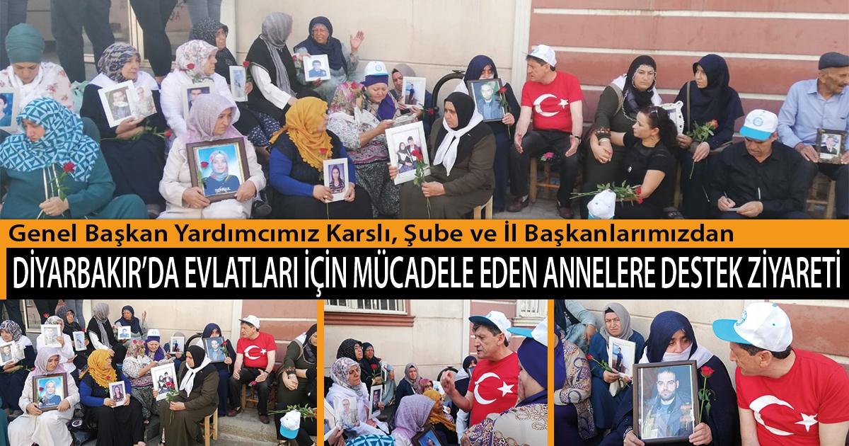 Genel Başkan Yardımcımız Karslı, Şube ve İl Başkanlarımızdan, Diyarkabır'da Evlatları İçin Mücadele Eden Annelere Destek Ziyareti
