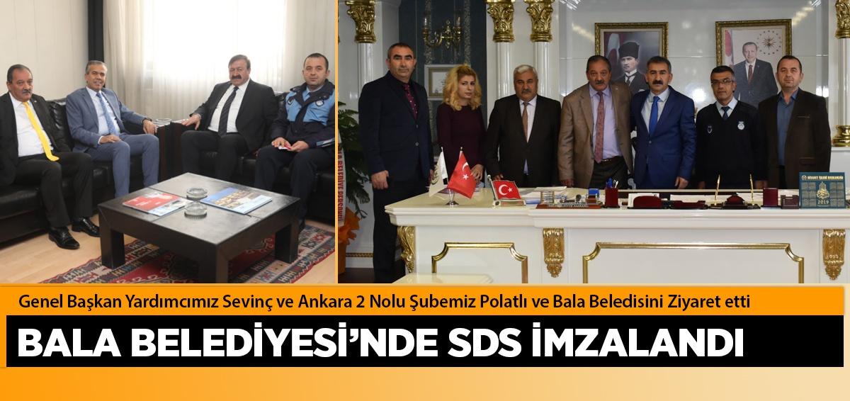 Genel Başkan Yardımcımız Sevinç ve Ankara 2 Nolu Şubemiz Polatlı ve Bala Beledisini Ziyaret etti