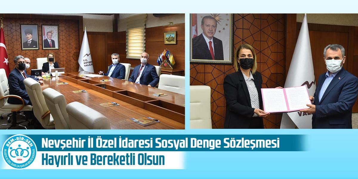 Nevşehir İl Özel İdaresi Sosyal Denge Sözleşmesi Hayırlı ve Bereketli Olsun