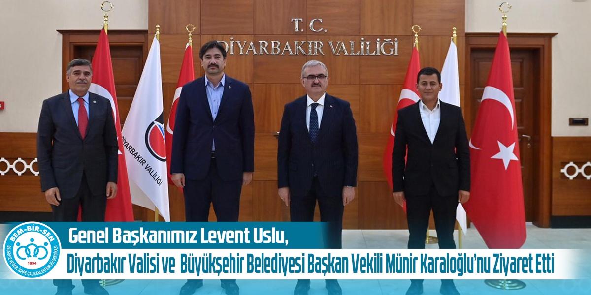 Genel Başkanımız Levent Uslu, Sn. Diyarbakır Valisi ve Diyarbakır Büyükşehir Belediyesi Başkan Vekili Münir Karaloğlu'nu Ziyaret Etti