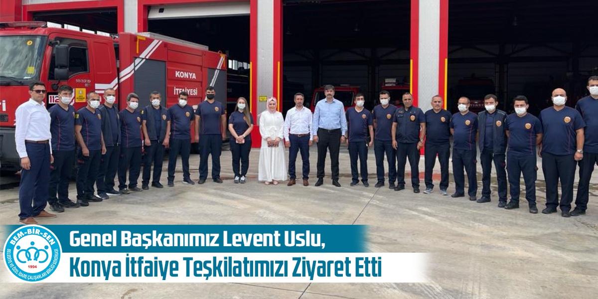 Genel Başkanımız Levent Uslu, Konya İtfaiye Teşkilatımızı Ziyaret Etti