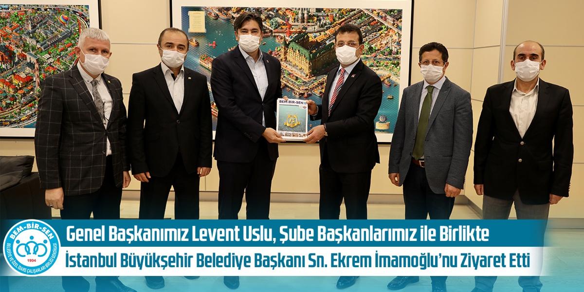 Genel Başkanımız Levent Uslu, Şube Başkanlarımız ile Birlikte İstanbul Büyükşehir Belediye Başkanı Sn. Ekrem İmamoğlu'nu Ziyaret Etti