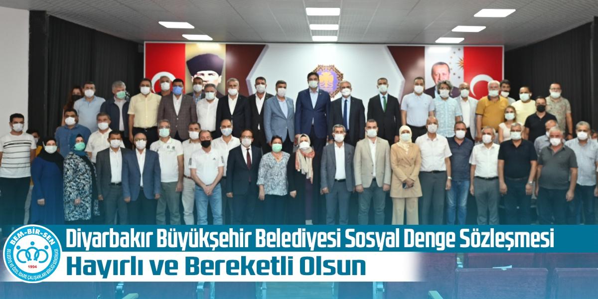 Diyarbakır Büyükşehir Belediyesi Sosyal Denge Sözleşmesi Hayırlı ve Bereketli Olsun