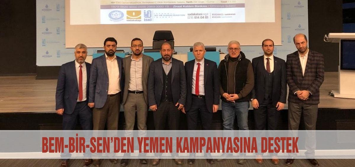 BEM-BİR-SEN'DEN YEMEN KAMPANYASINA DESTEK